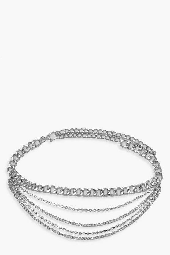 Chunky Chain& Diamante Belt