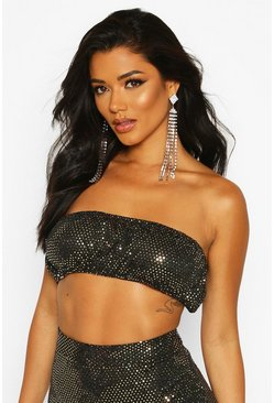 Gold Mini Sequin Bandeau