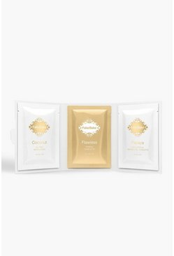 Womens Gold Fake Bake Tanning Survival Kit Wipes