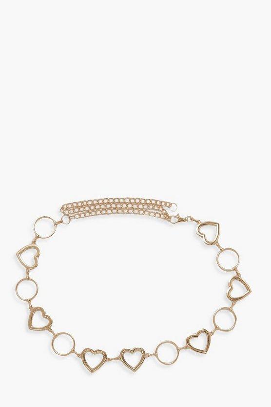 Heart Ring Chain Belt