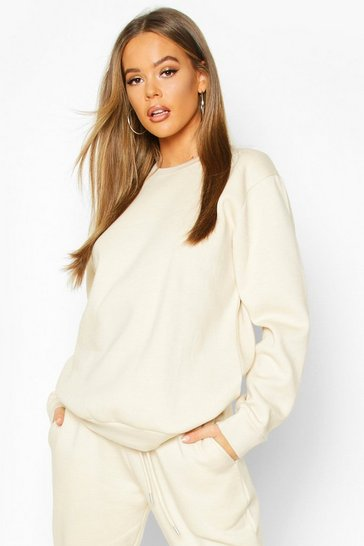 Womens Ecru Oversized Sweatshirt