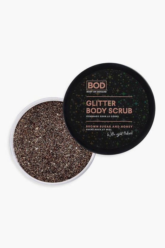 BOD Vegan Glitter Body Scrub - Brown Sugar & Honey 200g