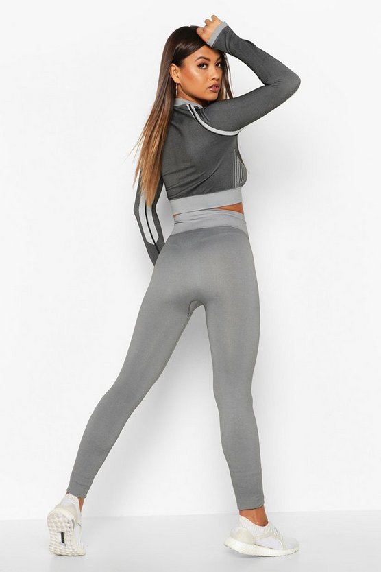 Fit Seamless Knit High Waist Woman Active Legging