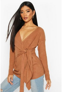Chocolate Twist Front Slouchy Jumper