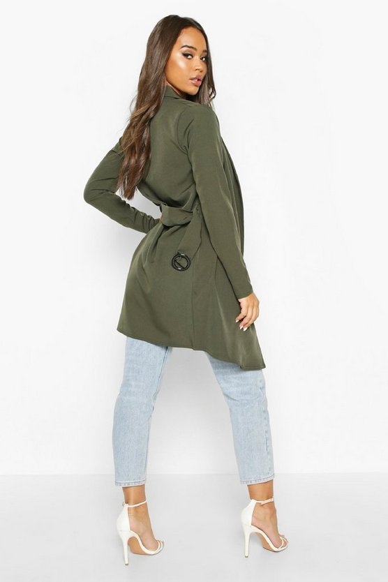 O Ring Belted Duster Coat
