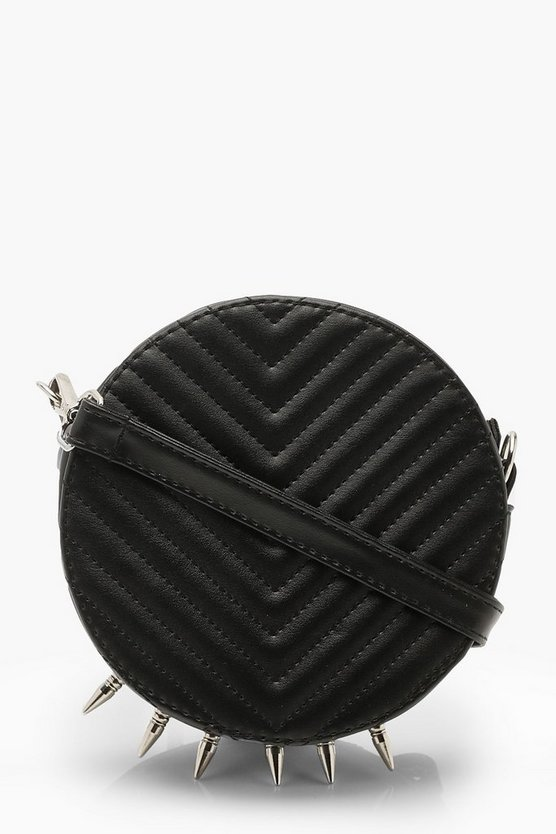 Spike Chevron Drum Cross Body Bag
