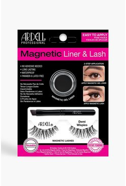 Womens Black Ardell Magnetic Demi Wispies Lash Kit