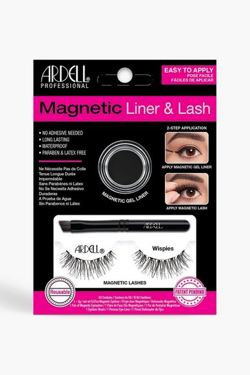 Womens Black Ardell Magnetic Wispies Lash Kit