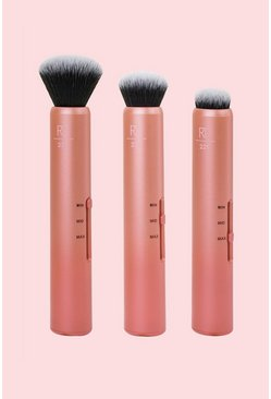 Womens Pink Real Techniques Custom Complexion Brushes