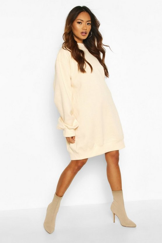 Balloon Sleeve Open Back Sweatshirt Dress