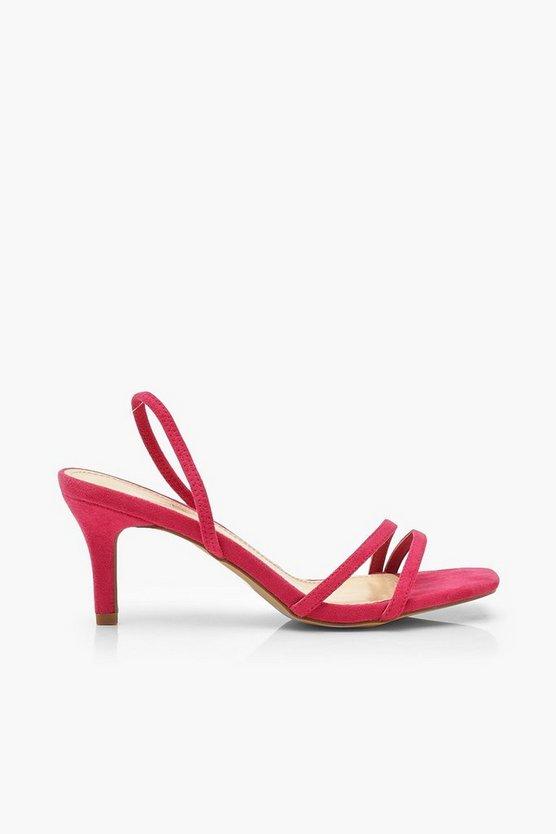 Slingback Low Heel Sandals