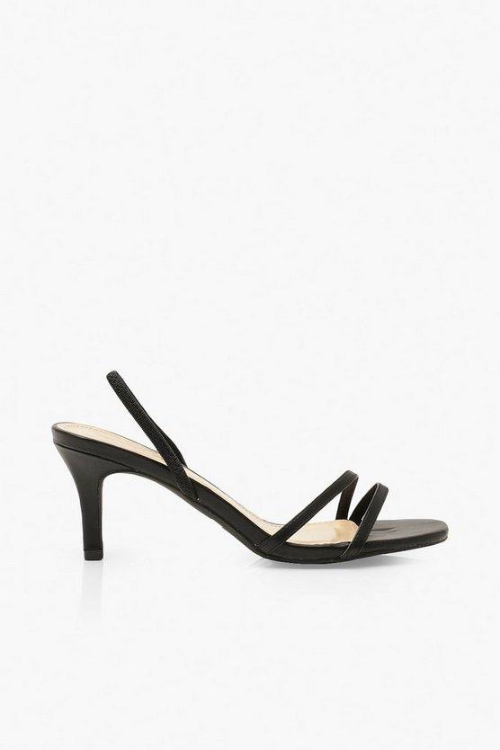 Low Heel Slingback Sandals