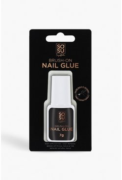 Womens Clear SOSU Brush On Nail Glue
