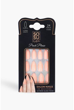 Faux ongles Peach Please SOSU, Couleur chair