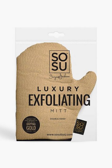 Womens Gold SOSU Dripping Exfoliating Mitt