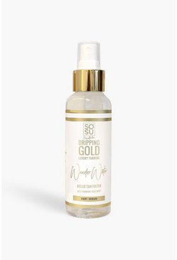 Womens Clear SOSU Dripping Gold Tanning Water - Medium