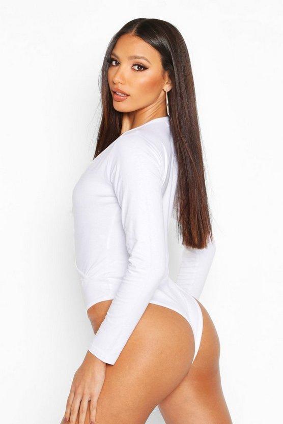 Basic Plunge Long Sleeve Body