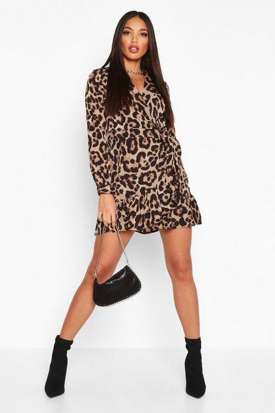 Woven Leopard Shirt Tea Dress