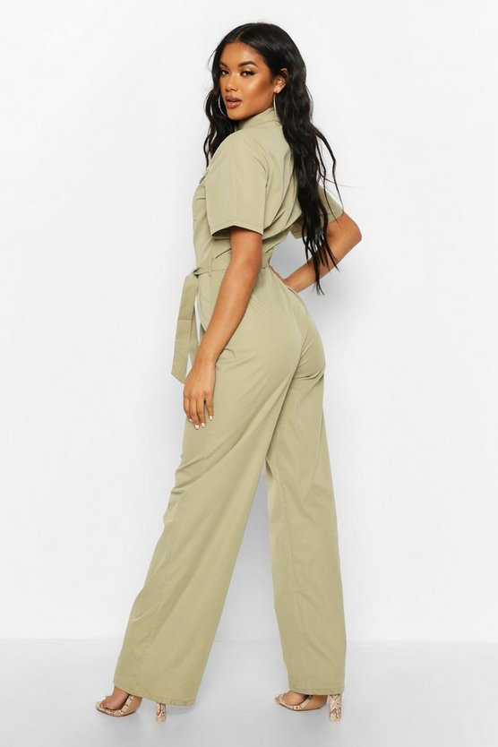 High Neck Utility Jumpsuit