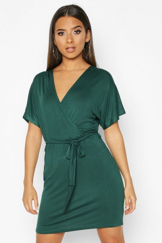 Tie Waist Wrap Tea Dress
