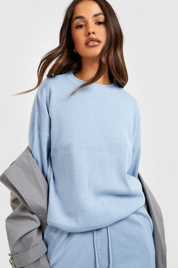Pastel blue Knitted Jumper & Jogger Co-ord