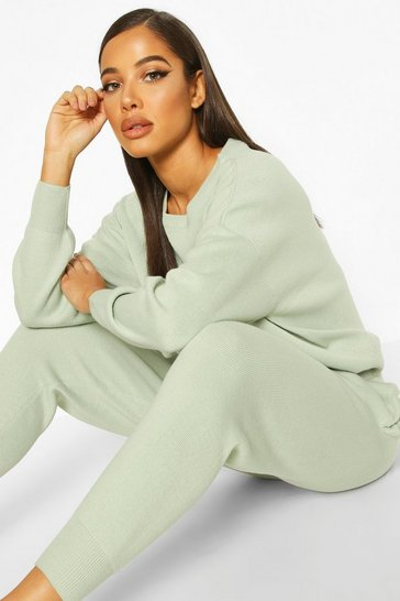 Sage Knitted Jumper & Jogger Co-ord
