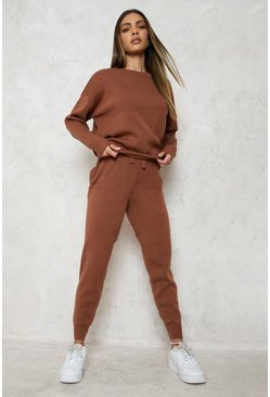 Toffee Knitted Jumper & Jogger Co-ord
