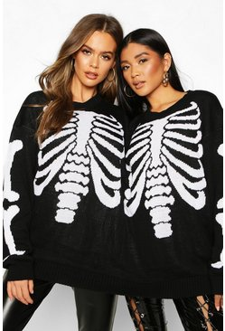 Black Skeleton Halloween Twin Jumper