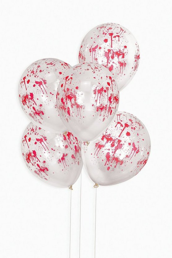 Halloween Blood Print 5 Pack Balloons