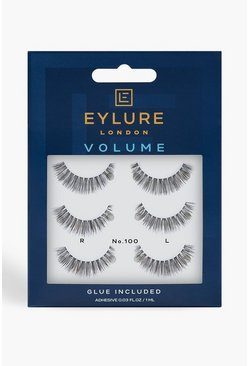 Womens Black Eylure Volume Pack Lashes - 100