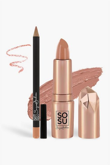 Womens Nude SOSU Lip Kit - Bare It