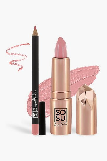 Womens Pink SOSU Lip Kit - Oh Boy