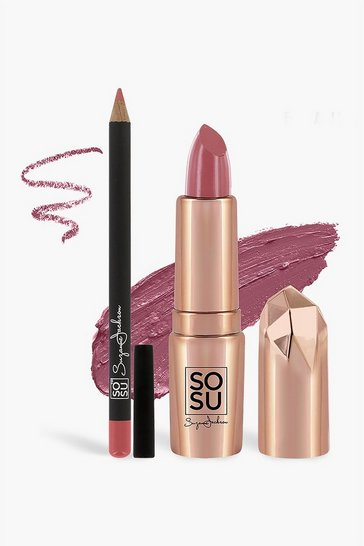 Womens Nude SOSU Lip Kit - My Ex Calling