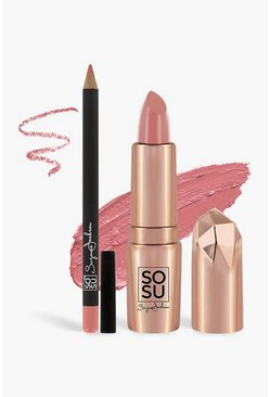 Womens Nude SOSU Lip Kit - Can't Cope