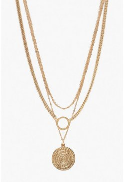 Dam Gold O-Ring & Coin Chain Necklace