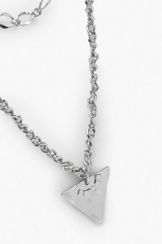 Triangle Double Chain Necklace