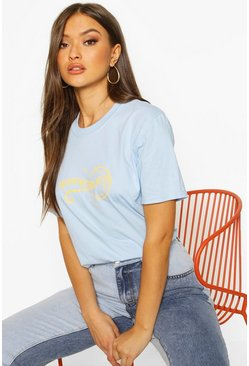 Blue Moonchild Slogan T-shirt