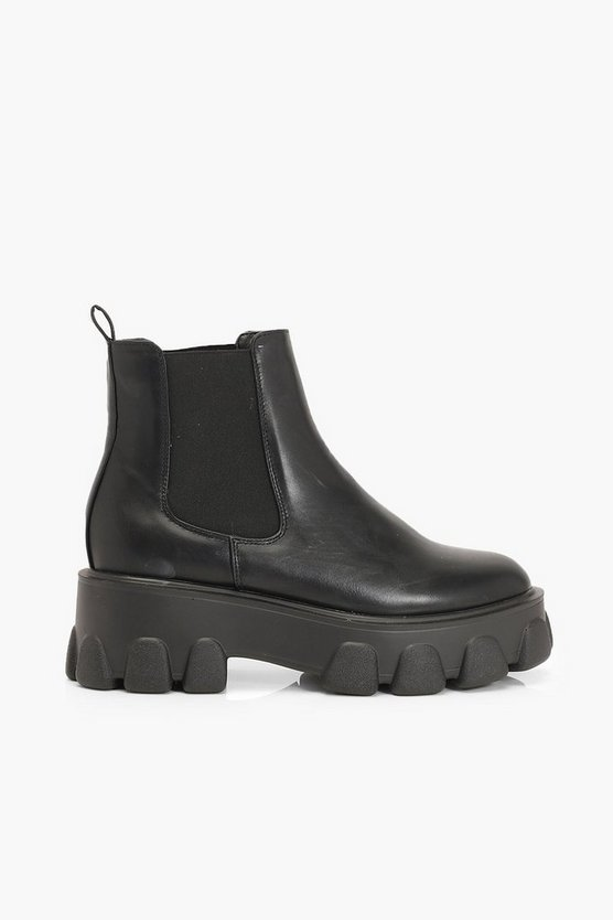 Chunky Platform Chelsea Boots
