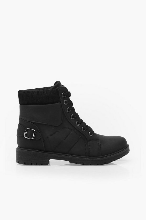 Lace Up Hiker Boots