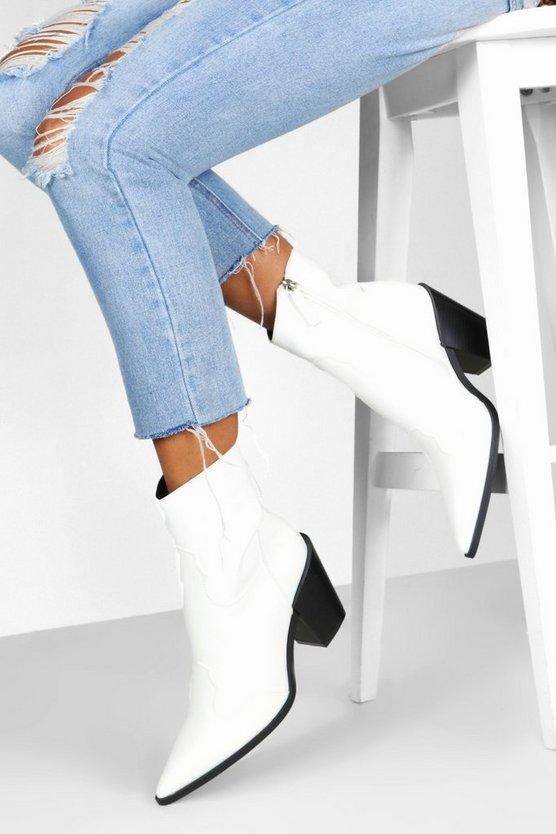 Block Heel Western Boots