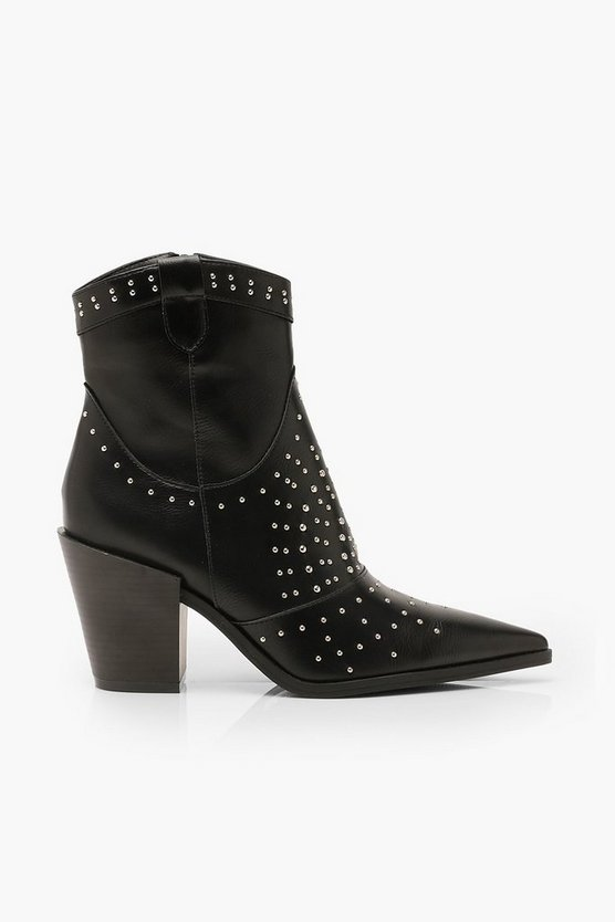 Stud Western Boots