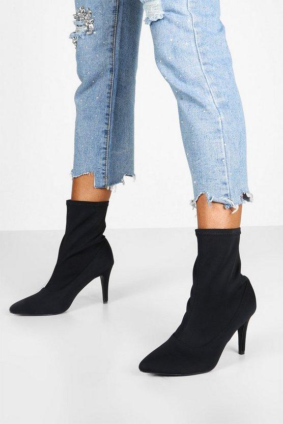 Basic Stiletto Heel Sock Boots