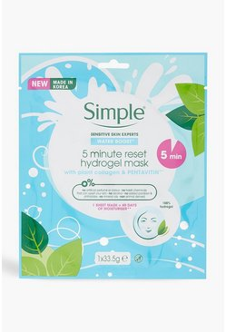 Womens Blue Simple Hydrogel Face Mask