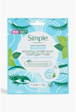 Simple Hydrogel-Augenmaske, Blau, Damen