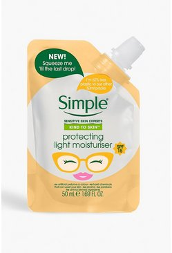Womens Orange Simple SPF 25 Moisturiser Pouch