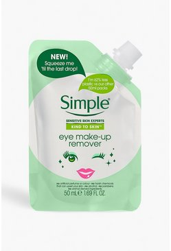 Womens Mint Simple Eye Make Up Remover Pouch