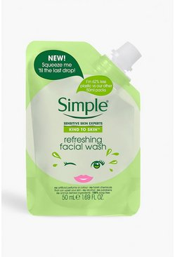 Womens Green Simple Refreshing Facial Wash Pouch