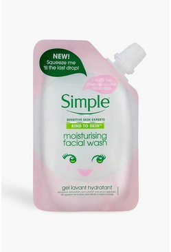 Womens Pink Simple Moisturising Facial Wash Pouch
