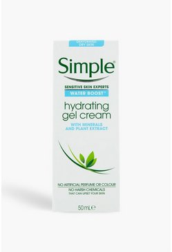 Crema gel idratante all'acqua Waterboost Simple, Bianco, Femmina