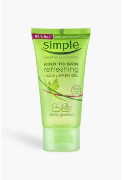 Womens Green Simple Refreshing Facial Wash Gel